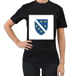 Flag_Bosnia-Herzegovina Women s Black T-Shirt (Two Sides)