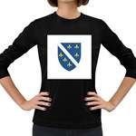 Flag_Bosnia-Herzegovina Women s Long Sleeve Dark T-Shirt