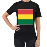 Flag_Bolivia Women s Black T-Shirt