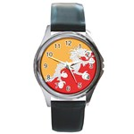 Flag_Bhutan Round Metal Watch