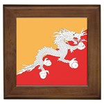 Flag_Bhutan Framed Tile