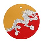Flag_Bhutan Ornament (Round)