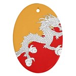 Flag_Bhutan Ornament (Oval)