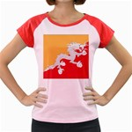 Flag_Bhutan Women s Cap Sleeve T-Shirt