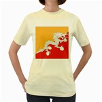 Flag_Bhutan Women s Yellow T-Shirt
