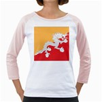 Flag_Bhutan Girly Raglan