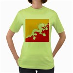 Flag_Bhutan Women s Green T-Shirt