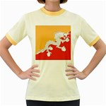 Flag_Bhutan Women s Fitted Ringer T-Shirt