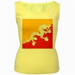 Flag_Bhutan Women s Yellow Tank Top