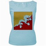 Flag_Bhutan Women s Baby Blue Tank Top