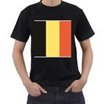 Flag_Belgium Black T-Shirt