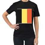 Flag_Belgium Women s Black T-Shirt