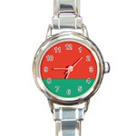 Flag_Belarus Round Italian Charm Watch