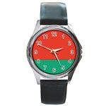 Flag_Belarus Round Metal Watch