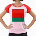 Flag_Belarus Women s Cap Sleeve T-Shirt