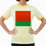 Flag_Belarus Women s Fitted Ringer T-Shirt
