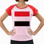Flag_Yemen Women s Cap Sleeve T-Shirt