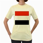 Flag_Yemen Women s Yellow T-Shirt