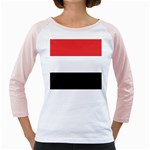 Flag_Yemen Girly Raglan