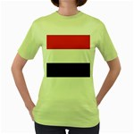 Flag_Yemen Women s Green T-Shirt