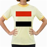Flag_Yemen Women s Fitted Ringer T-Shirt