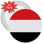 Flag_Yemen 3  Button (10 pack)