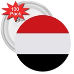Flag_Yemen 3  Button (100 pack)