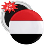 Flag_Yemen 3  Magnet (100 pack)