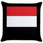 Flag_Yemen Throw Pillow Case (Black)