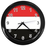 Flag_Yemen Wall Clock (Black)