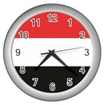 Flag_Yemen Wall Clock (Silver)