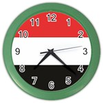 Flag_Yemen Color Wall Clock