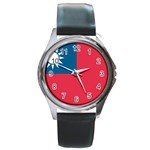 Flag_Taiwan Round Metal Watch