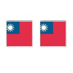Flag_Taiwan Cufflinks (Square) from ArtsNow.com Front
