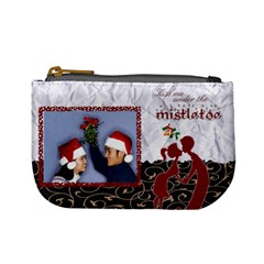 Kiss Me Under The Mistletoe   Mini Coin Purse By Carmensita   Mini Coin Purse   H1aycmj1qyya   Www Artscow Com Front