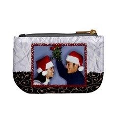 Kiss Me Under The Mistletoe   Mini Coin Purse By Carmensita   Mini Coin Purse   H1aycmj1qyya   Www Artscow Com Back