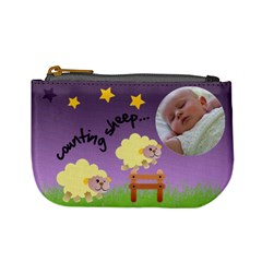 Counting Sheep   Mini Coin Purse By Carmensita   Mini Coin Purse   Yxy7qzju2p83   Www Artscow Com Front