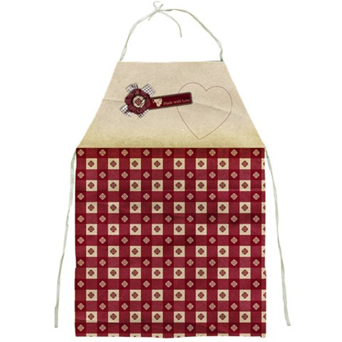 Made With Love  Apron Template By Mikki   Full Print Apron   608zwm0volbp   Www Artscow Com Front