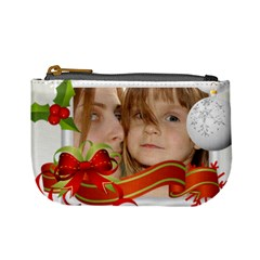 Xmas Bag  By Wood Johnson   Mini Coin Purse   Dh9dwqh1mraz   Www Artscow Com Front
