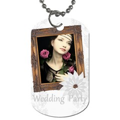 Wedding Party By Joely   Dog Tag (two Sides)   P01rcygjnq8u   Www Artscow Com Front