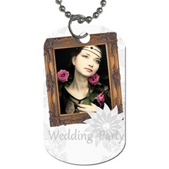 Wedding Party By Joely   Dog Tag (two Sides)   P01rcygjnq8u   Www Artscow Com Back