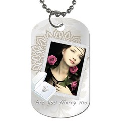 Wedding Party By Joely   Dog Tag (two Sides)   Kjdv80le7a8n   Www Artscow Com Front