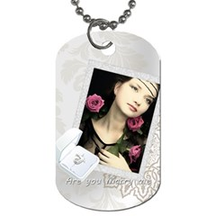 Wedding Party By Joely   Dog Tag (two Sides)   Kjdv80le7a8n   Www Artscow Com Back