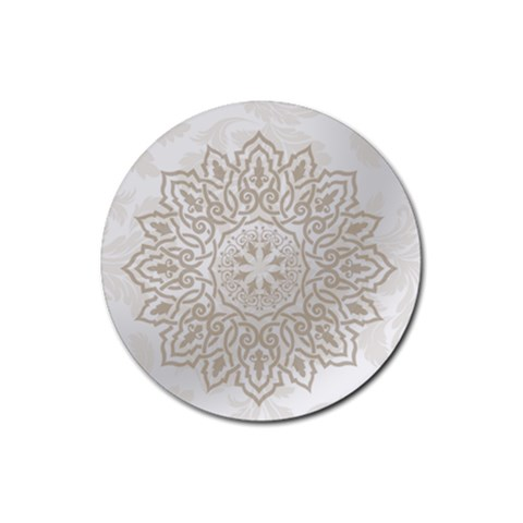 Wedding Pattern By Joely   Rubber Coaster (round)   X6bp97zv3tst   Www Artscow Com Front