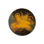 orange pattern - Rubber Coaster (Round)