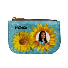 Sunflower Mini Coin Purse By Mikki   Mini Coin Purse   Rqe23n00mc4i   Www Artscow Com Front