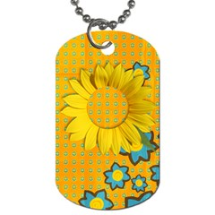 Sunflower Dog Tag By Mikki   Dog Tag (two Sides)   Bg7d5mwflc34   Www Artscow Com Back