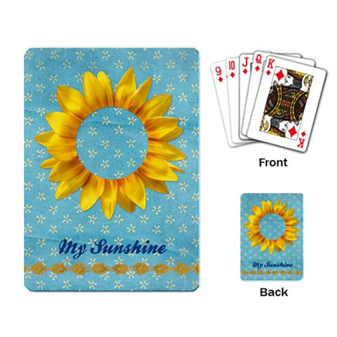 Sunflowers Playing Cards By Mikki   Playing Cards Single Design   6072ykh3h2r0   Www Artscow Com Back