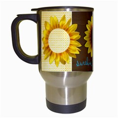 Sunflowers Mug By Mikki   Travel Mug (white)   V1rgx7etoxjg   Www Artscow Com Left