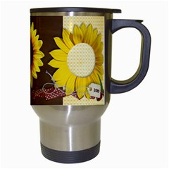 Sunflowers Mug By Mikki   Travel Mug (white)   V1rgx7etoxjg   Www Artscow Com Right